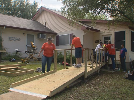 Texas Ramp Project And Home Depot Team Up To Help Disabled