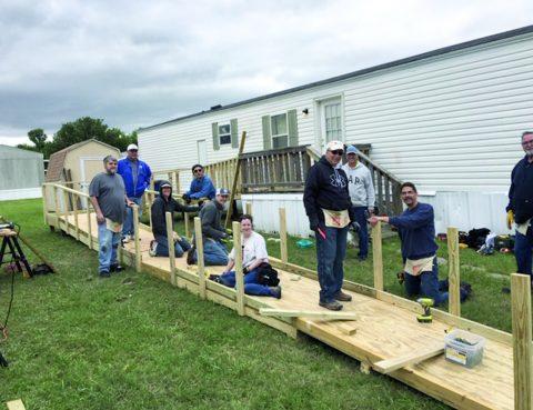 FUMC Sachse volunteers build ramps