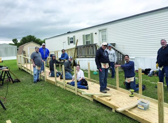 FUMC Sachse volunteers build ramps